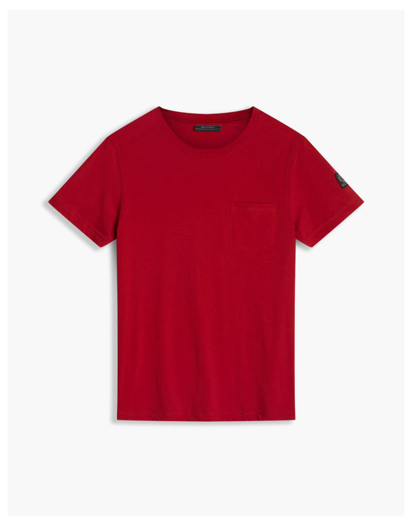 Belstaff New Thom Crew Neck T-Shirt Racing Red