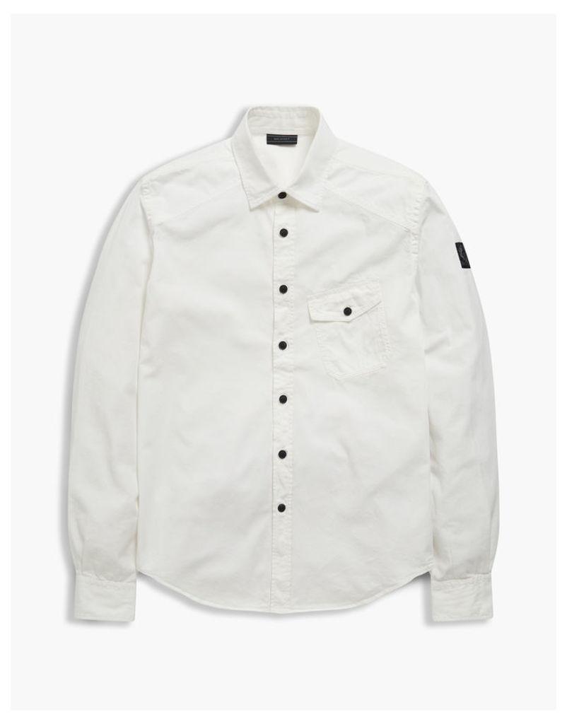 Belstaff Steadway Long Sleeve Shirt White