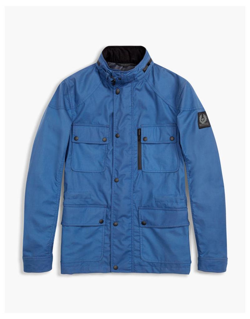 Belstaff Trialmaster Hooded Jacket Dark Cobalt