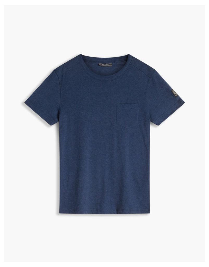Belstaff New Thom Crew Neck T-Shirt Bright Indigo Melange