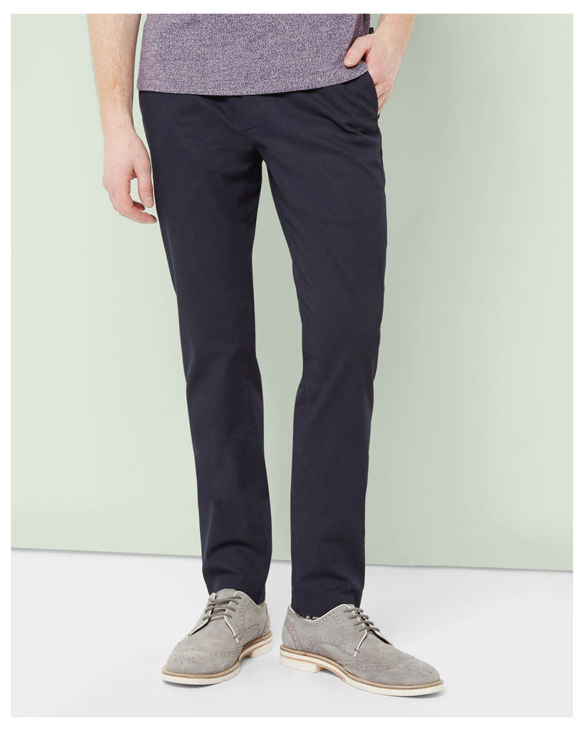 Ted Baker Printed cotton chinos Navy