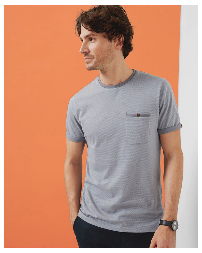 Ted Baker Spotted cotton T-shirt Light Grey