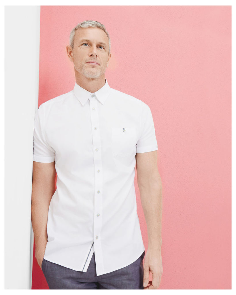 Ted Baker Textured cotton shirt White