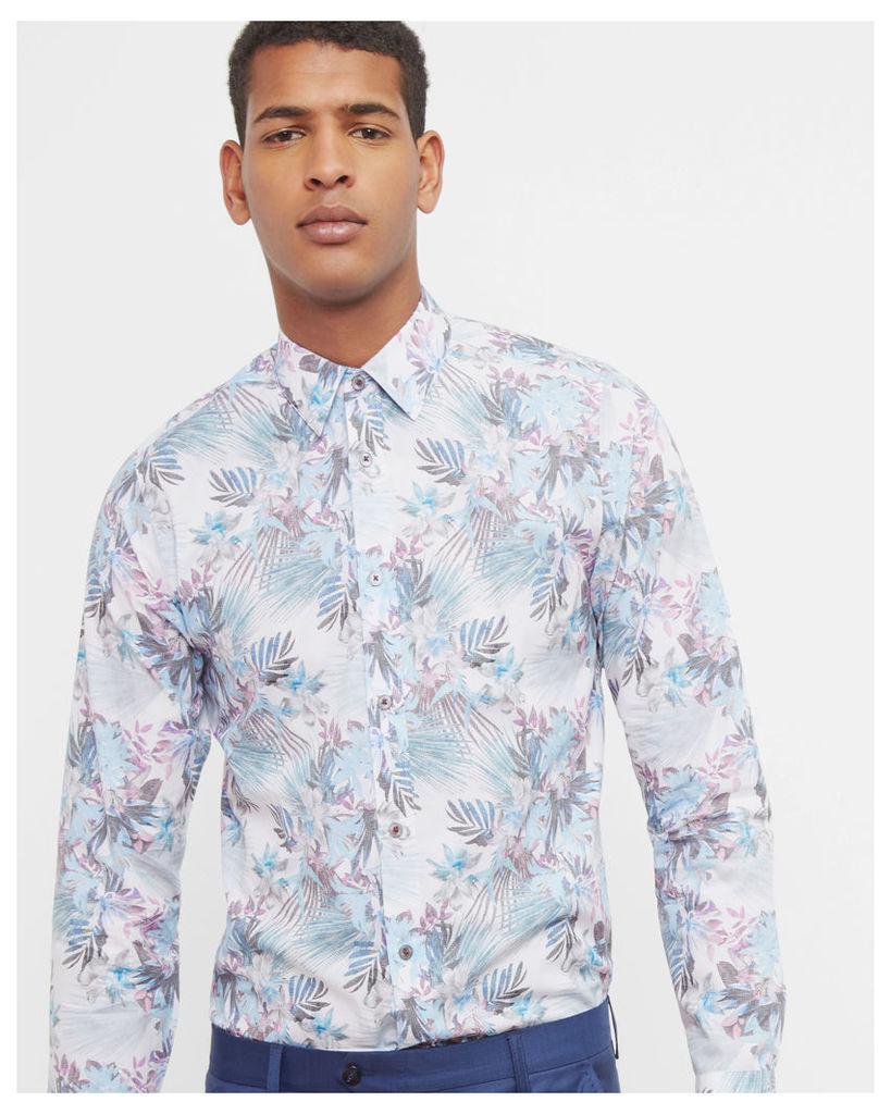 Ted Baker Floral print shirt White