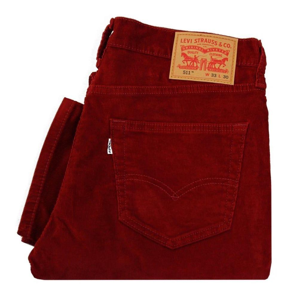 Levi's 511 Slim Fit Tomato Corduroy Trousers 04511-2042