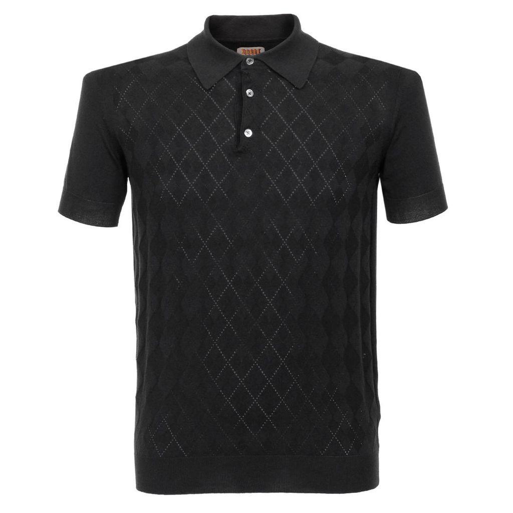Baracuta Argyle Black Polo Shirt BRMAG0001