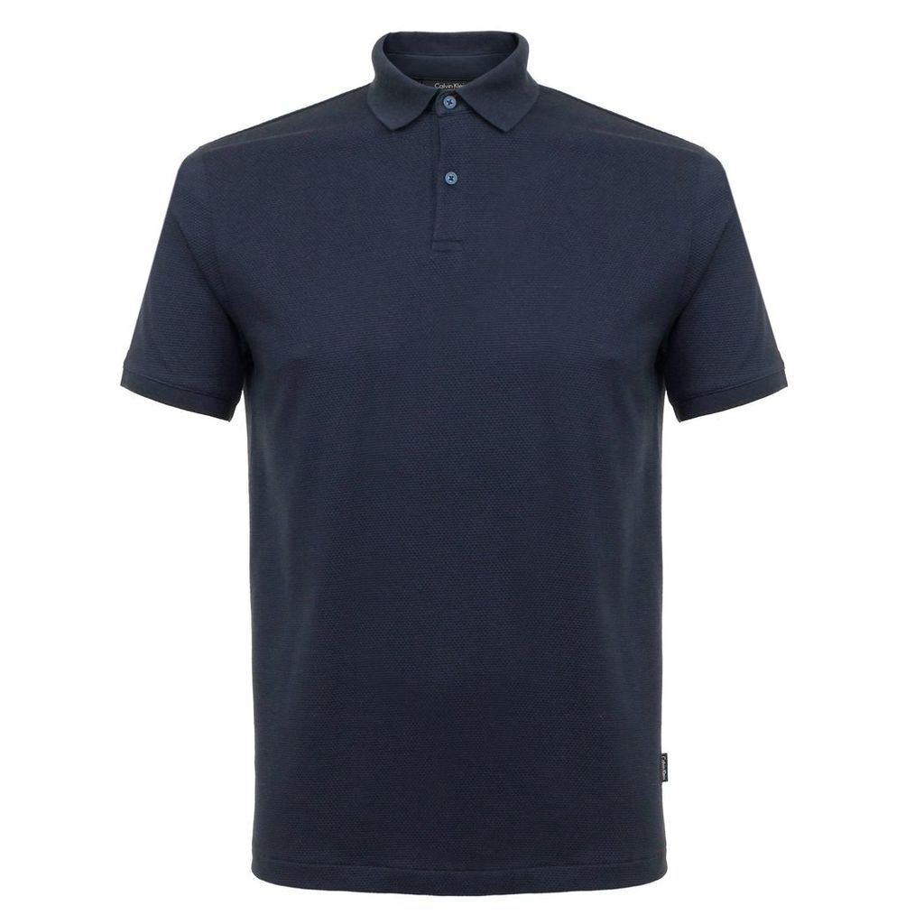Calvin Klein Jasesh Mash Jersey Navy Polo Shirt K10K100970