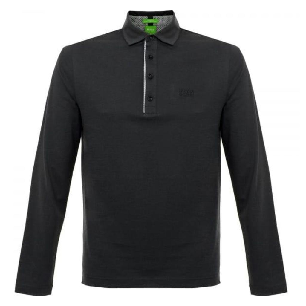 Boss Green C-Tivoli 1 Long Sleeve Black Polo Shirt 50320709