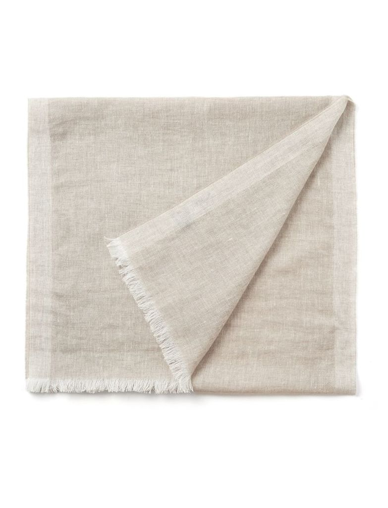 Cashmere Linen Scarf in Grey