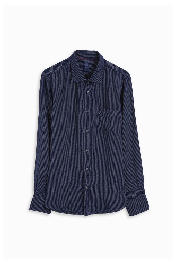 120% Lino Men`s Striped Linen Shirt Boutique1
