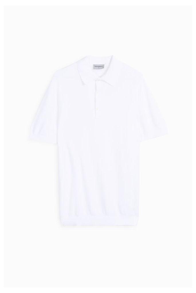 John Smedley Men`s Pique Knit Polo Shirt Boutique1