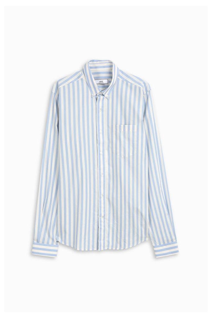 Ami Alexandre Mattiussi Men`s Striped Button Down Shirt Boutique1