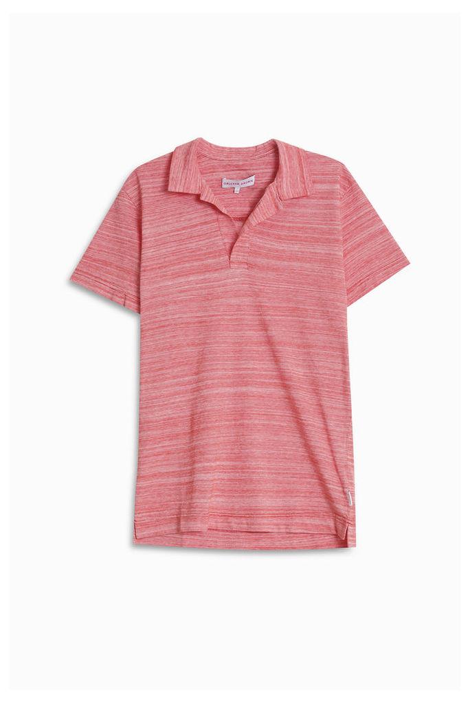Orlebar Brown Men`s Felix Striped Polo Boutique1