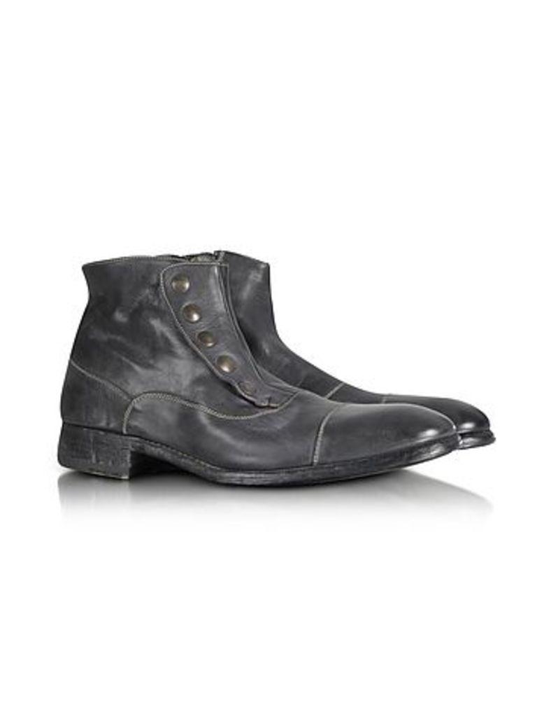 Forzieri - Smoke Grey Washed Leather Boots