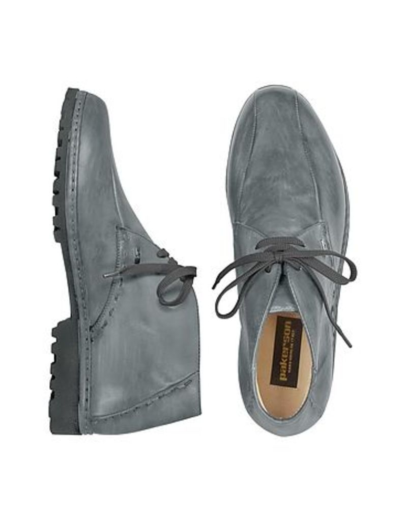 Pakerson - Gray Handmade Italian Leather Ankle Boots