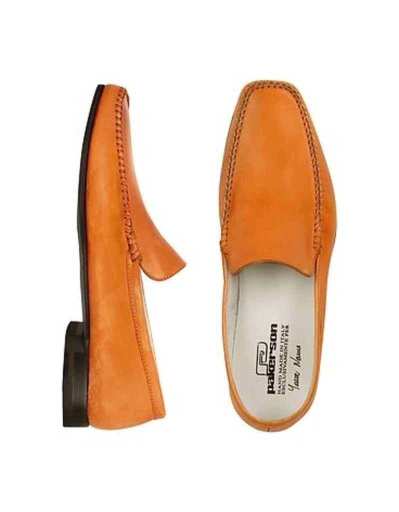 Pakerson - Orange Italian Handmade Leather Loafer Shoes