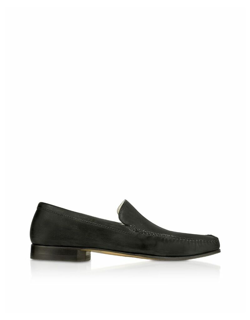 Pakerson - Black Italian Handmade Leather Lace-up Shoes
