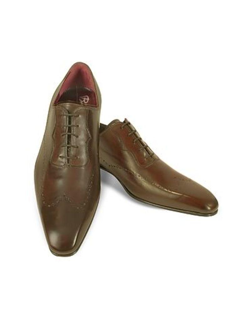 Fratelli Borgioli - Handmade Brown Italian Leather Wingtip Dress Shoes