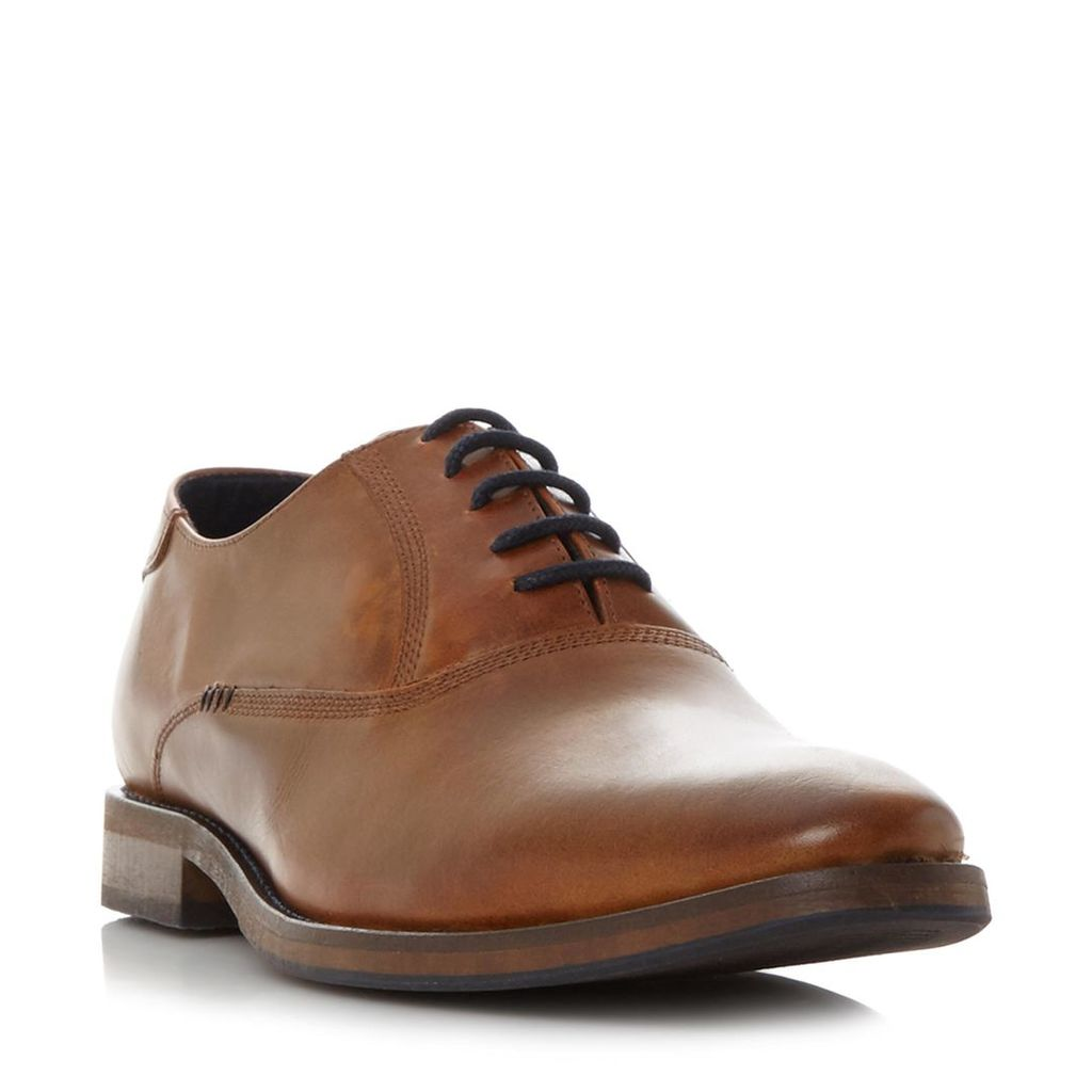 Barber Stitch Detail Leather Oxford Shoe