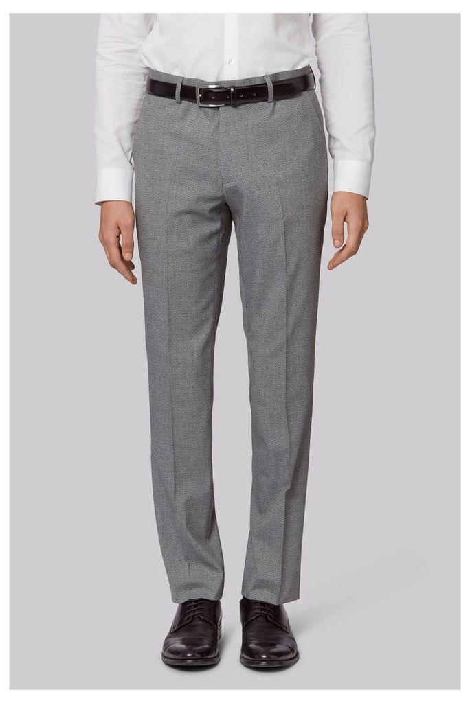 Moss London Skinny Fit Grey Speckled Trousers
