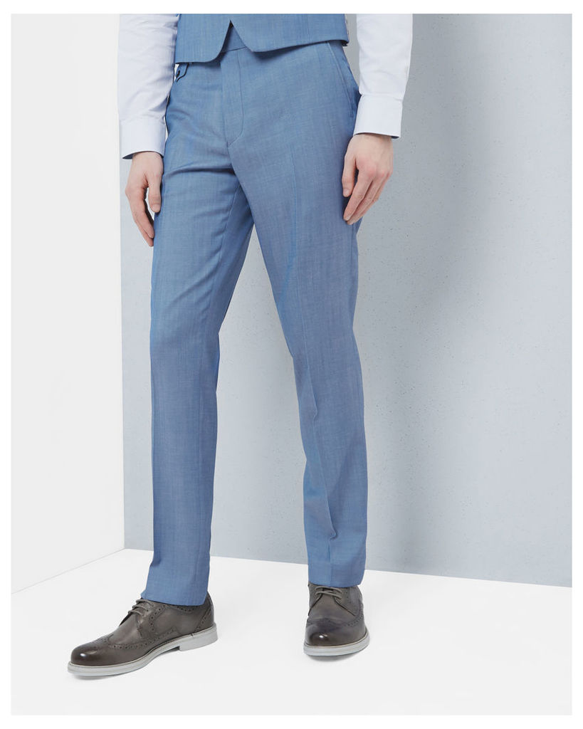 Ted Baker Wool classic fit trousers Light Blue