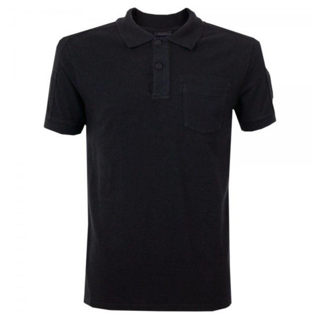 Belstaff Borman Black Pique Polo Shirt 71140115