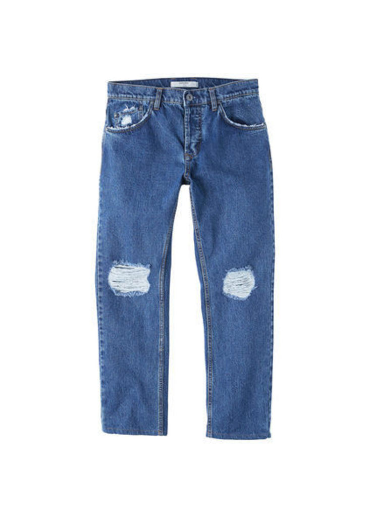 Harvey straight-fit crop jeans