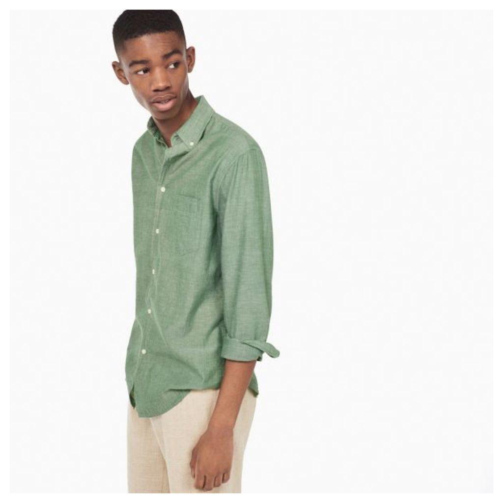 Organic Garment-dyed Oxford Shirt - Linden Green