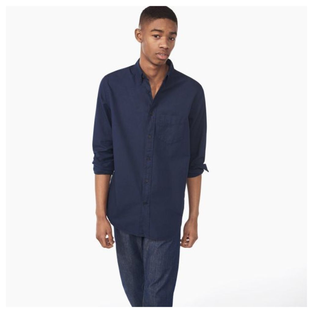Organic Garment-dyed Oxford Shirt - Evening Blue