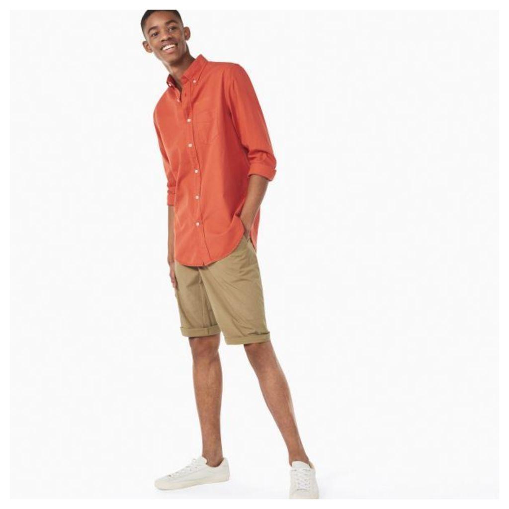 Organic Garment-dyed Oxford Shirt - Sunset Orange