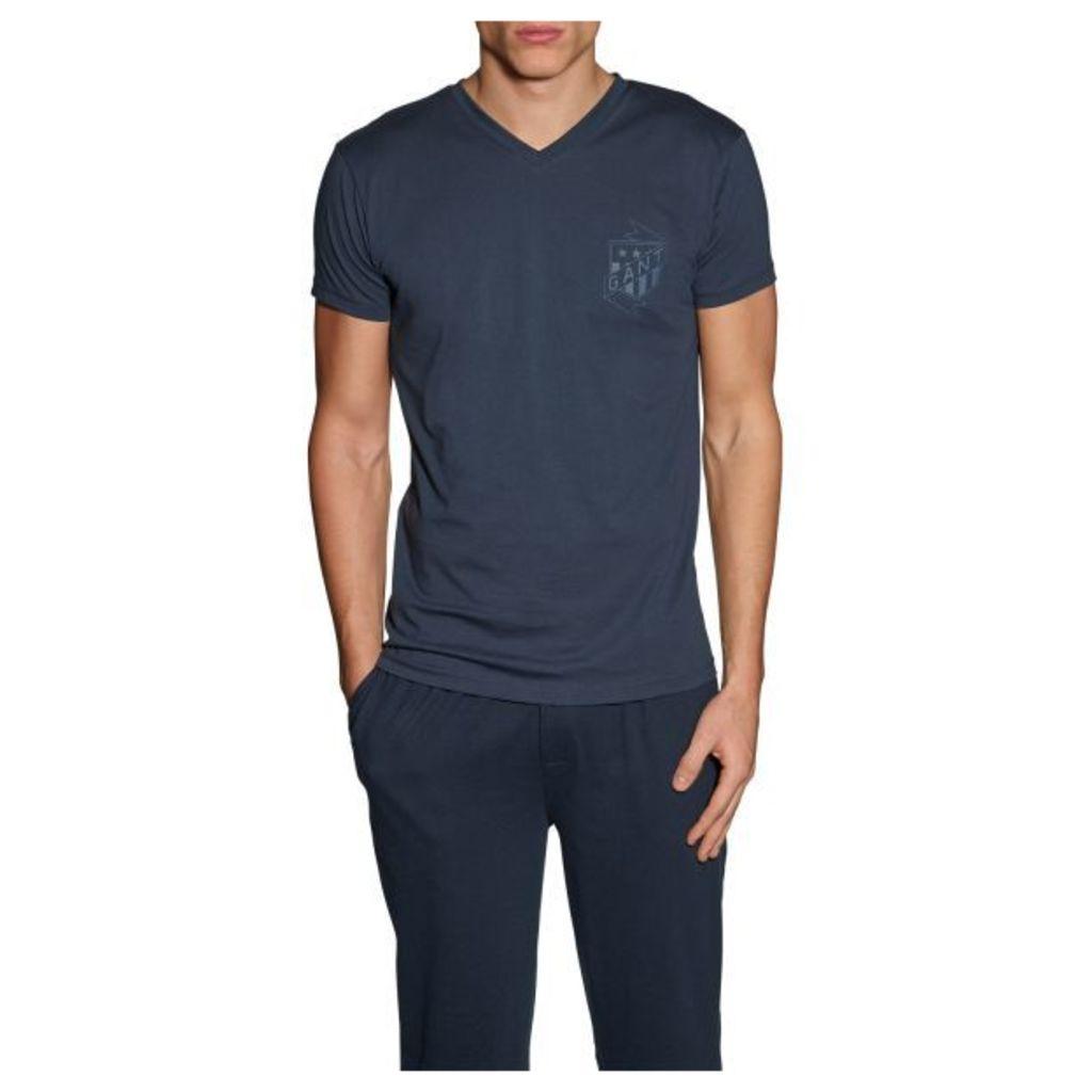 Jersey V-neck T-shirt - Navy
