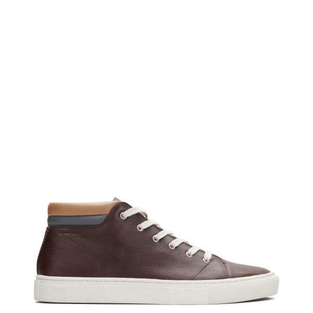 Bryant High Top Sneaker - Dark Brown