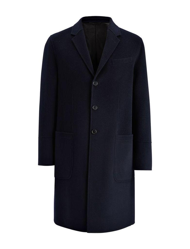 Double Wool Bentley Coat in Ink