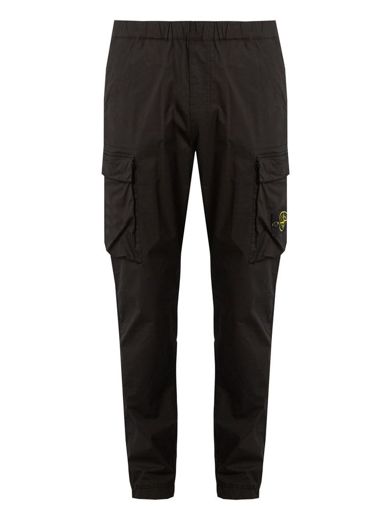 Double-pocket cotton-blend cargo trousers