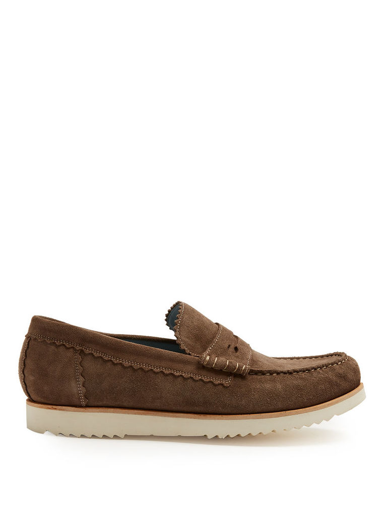 Ashley suede penny loafers