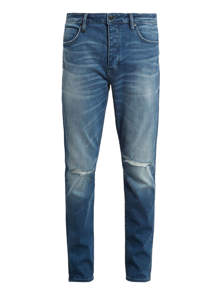 Ray distressed tapered-leg jeans