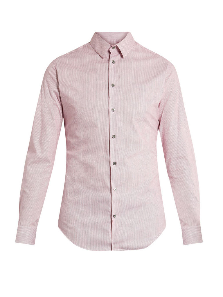 Micro-striped cotton shirt