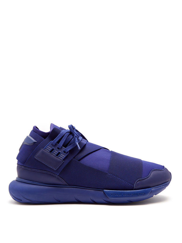 Qasa high-top neoprene trainers