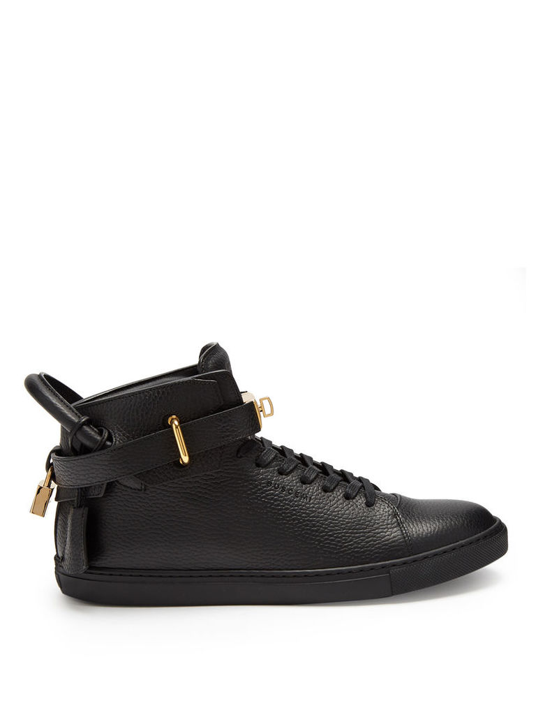 Core Clip leather high-top trainers