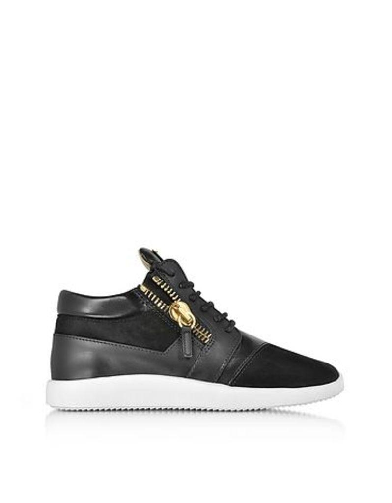 Giuseppe Zanotti - Black Suede and Leather Men's Sneaker