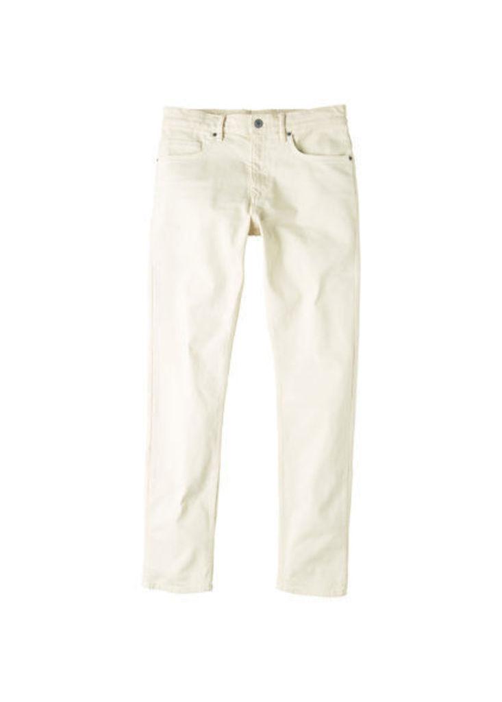 Slim-fit off-white Alex jeans