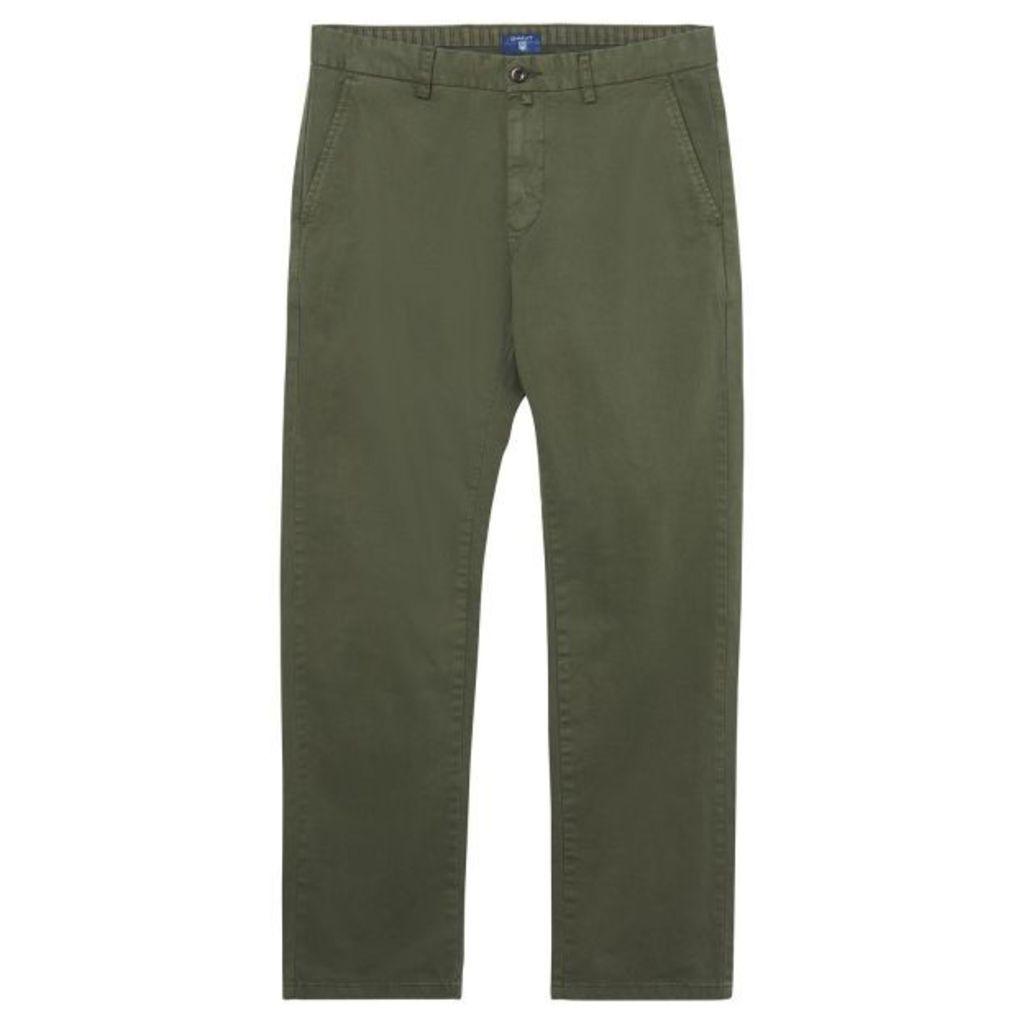Regular Fit Comfort Chinos - Moss Green
