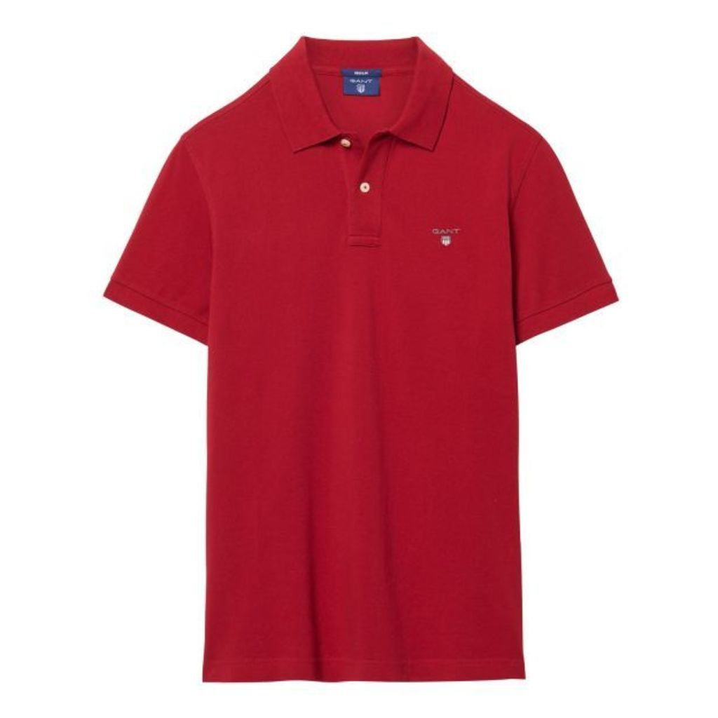 Solid Polo Shirt - Dark Red