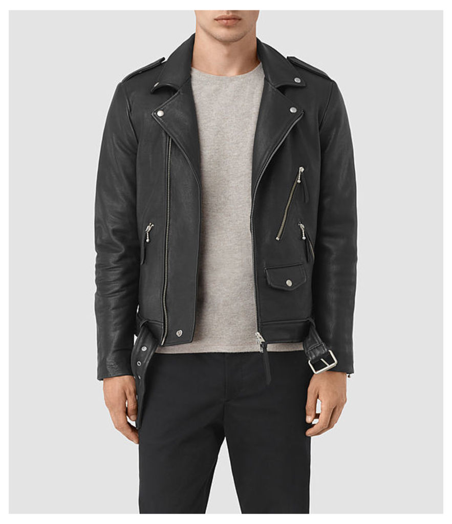 Casey Leather Biker Jacket