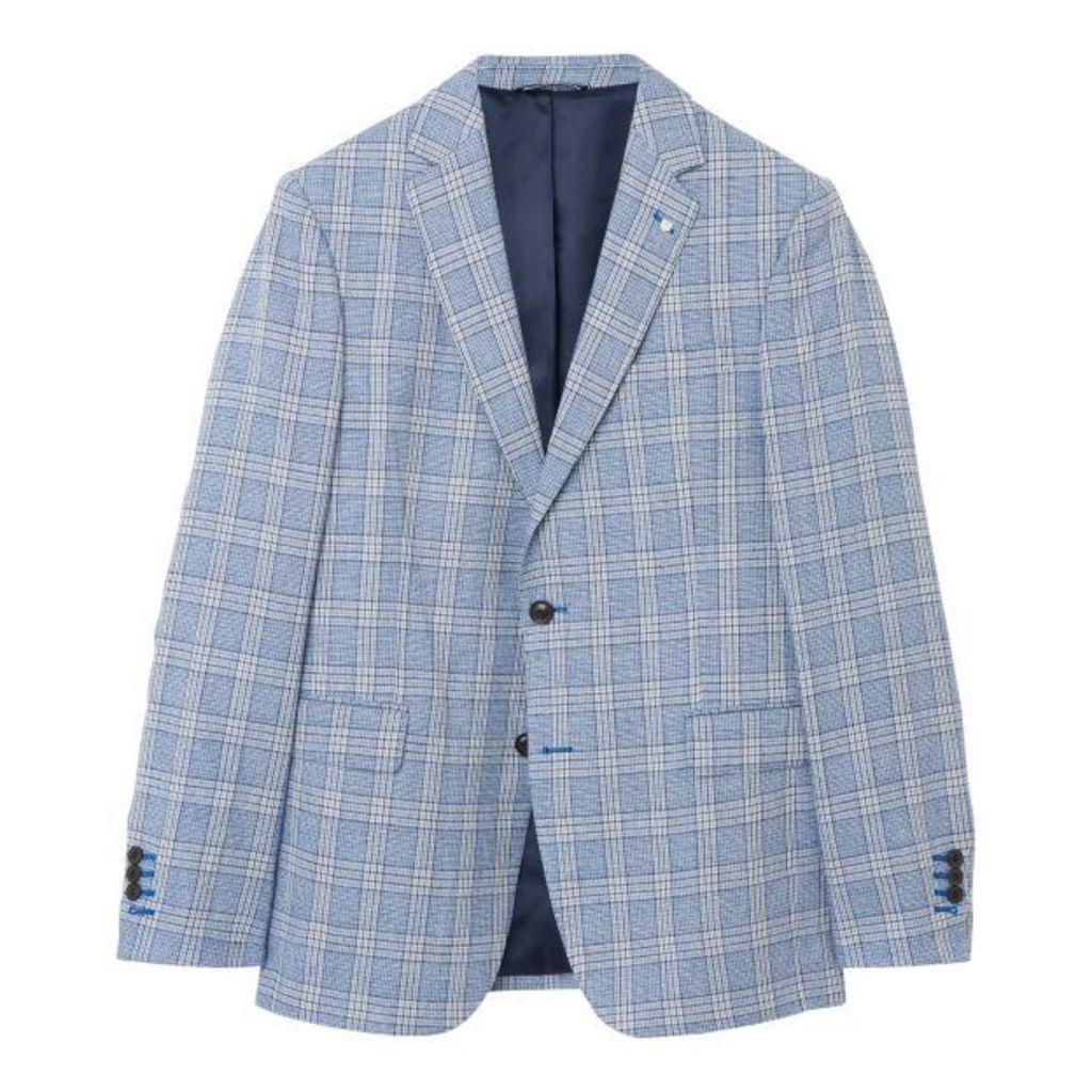 The Check Blazer - Hamptons Blue