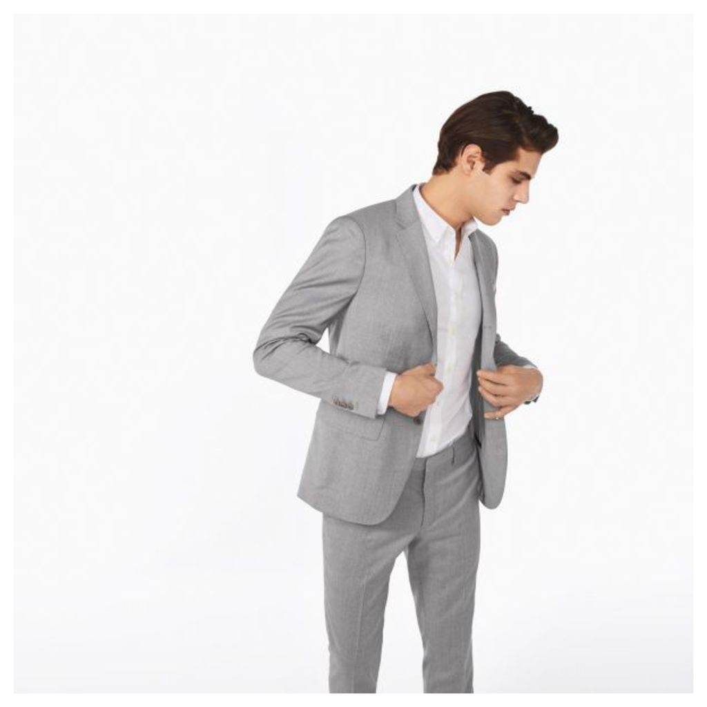 Travel Suit Blazer - Grey Melange