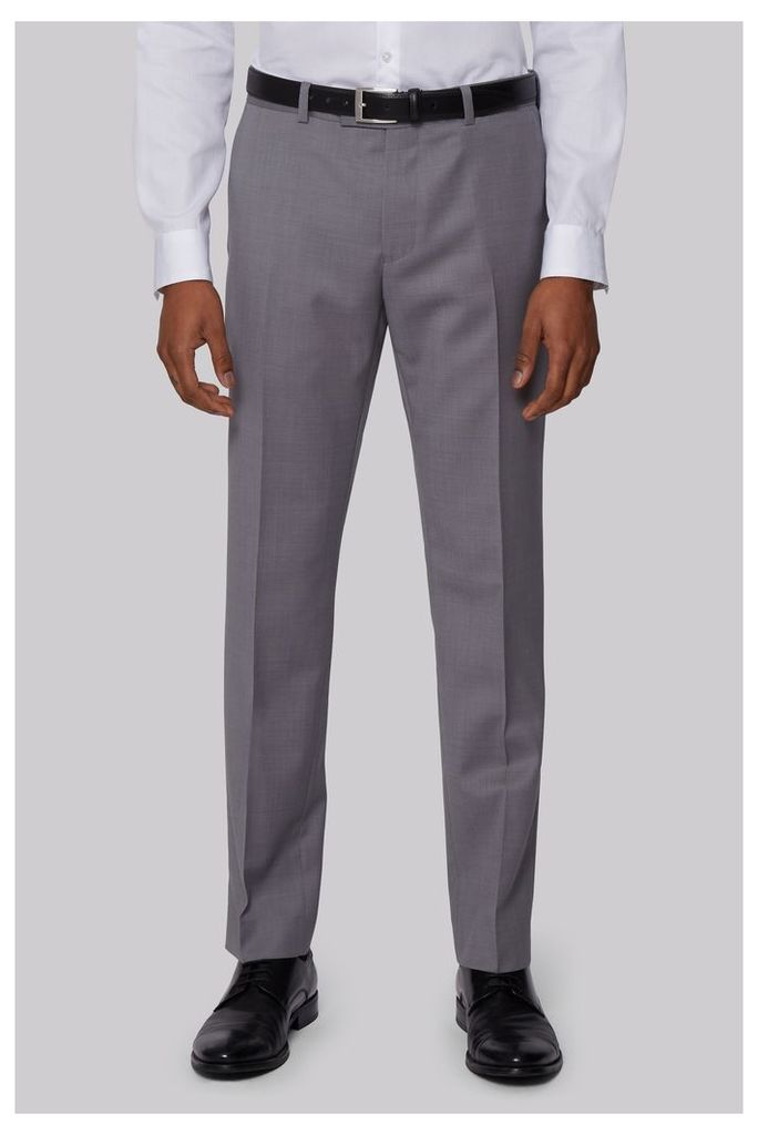 DKNY Slim Fit Neutral Pindot Trousers