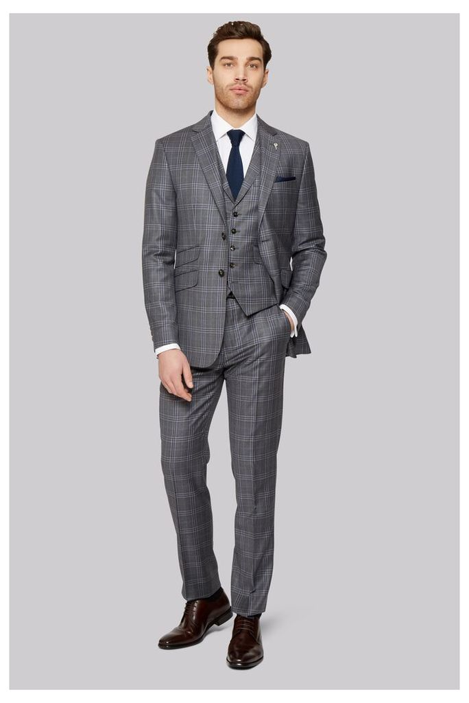 Ted Baker Tailored Fit Grey Check Jacket