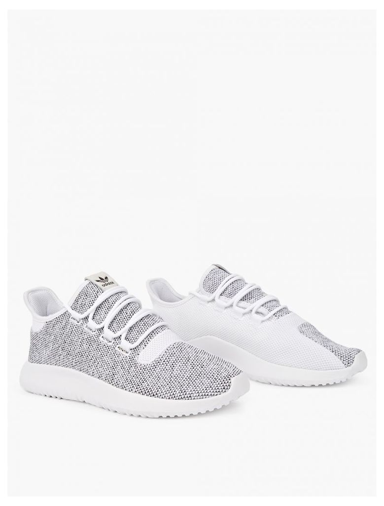 White Tubular Shadow Knit Sneakers