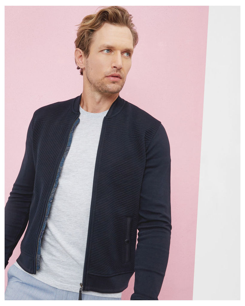 Ted Baker Quilted bomber Navy